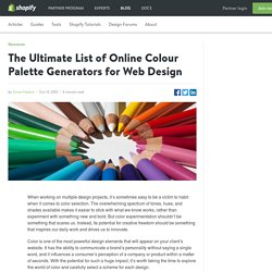 The Ultimate List of Online Colour Palette Generators for Web Design