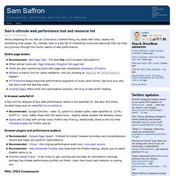Sam's ultimate web performance tool and resource list