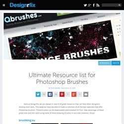 Ultimate Resource list for Photoshop Brushes