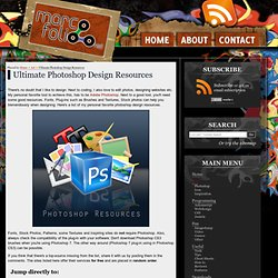 Ultimate Photoshop Design Resources - StumbleUpon