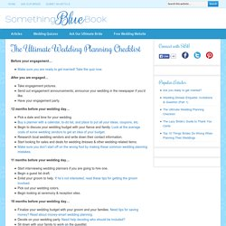 The Ultimate Wedding Planning Checklist | Something Blue Book