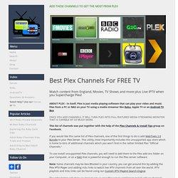 Ultimate Plex Channels List