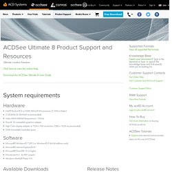 ACDSee Ultimate 8 Product Support - ACD Systems