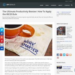 Ultimate Productivity Booster: How To Apply The 80/20 Rule