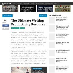 The Ultimate Writing Productivity Resource