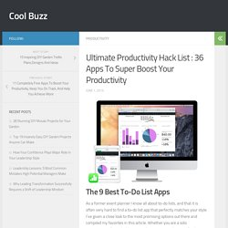 Ultimate Productivity Hack List : 36 Apps To Super Boost Your Productivity