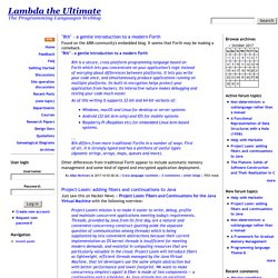Lambda the Ultimate | Programming Languages Weblog