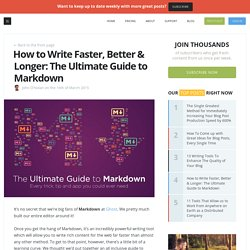 The Ultimate Guide to Writing & Publishing with Markdown