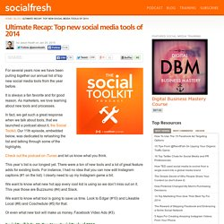 Ultimate Recap: Top new social media tools of 2014