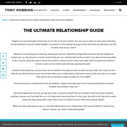 The Ultimate Relationship Guide, Relationship Advice by Tony Robbins