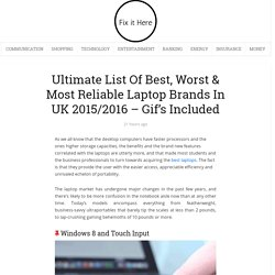 Ultimate List Of Best, Worst & Most Reliable Laptop Brands In 2015/2016