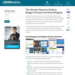 The Ultimate Resource Guide to Blogger Outreach and Guest Blogging