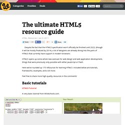 The ultimate HTML5 resource guide