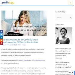 The Ultimate List of Covid 19 Free Resources for SEO and Marketers - Zenith Copy