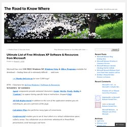 The Road to Know Where: Ultimate List of Free W...