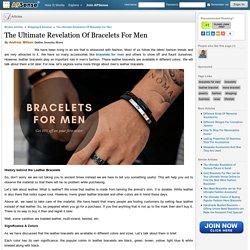 Various Color of Bracelets For Men