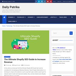 The Ultimate Shopify SEO Guide to Increase Revenue