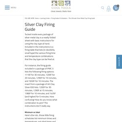 The Ultimate Silver Metal Clay Firing Guide - Cool Tools