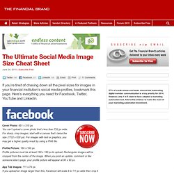 The Ultimate Social Media Image Size Cheat Sheet