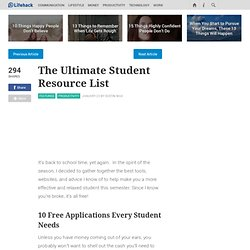 The Ultimate Student Resource List