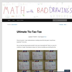 Ultimate Tic-Tac-Toe | Math with Bad Drawings