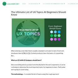 The Ultimate List of UX Topics All Beginners Should Know