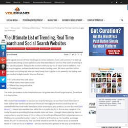 The Ultimate List of Trending, Real Time Search and Social Search Websites