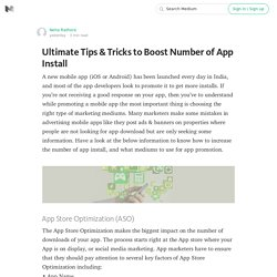 Ultimate Tips & Tricks to Boost Number of App Install