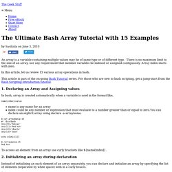The Ultimate Bash Array Tutorial with 15 Examples