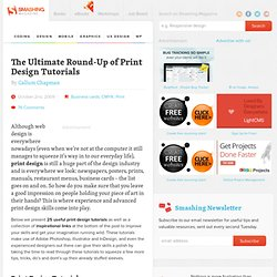 The Ultimate Round-Up of Print Design Tutorials