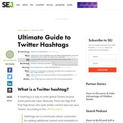 Ultimate Guide to Twitter Hashtags
