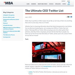 The Ultimate CEO Twitter List