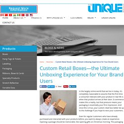 Custom Retail Boxes—the Ultimate Unboxing Experience for Your Brand Users