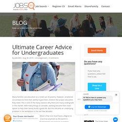 Ultimate Career Advice for Undergraduates