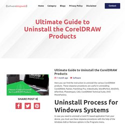 Ultimate Guide to Uninstall the CorelDRAW Products