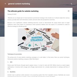 The ultimate guide for website marketing