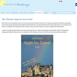 Ultimate Apps for Travel List