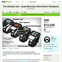 The Ultimate One - Quad Mountain (iPod Watch Wristband) by Tim McLellan