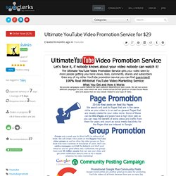 Ultimate YouTube Video Promotion Service for $29