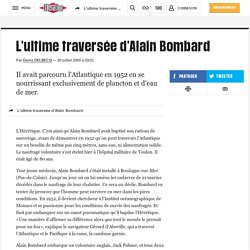 L'ultime traversée d'Alain Bombard