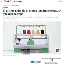 El último grito de la moda: una impresora 3D que diseña ropa