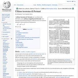 Ultimo teorema di Fermat
