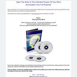 Ultra Dynamic Mind Home Study Course
