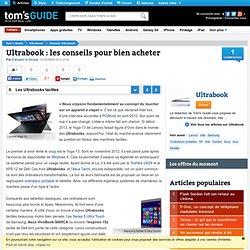 Dalles tactiles : Ultrabook : les conseils pour bien acheter