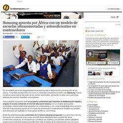 Samsung apuesta por África con un modelo de escuelas ultraconectadas y autosuficientes en contenedores