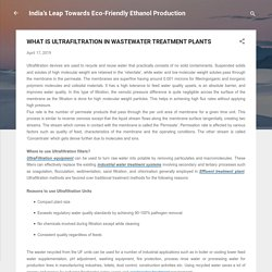 WHAT IS ULTRAFILTRATION IN WASTEWATER TREATMENT PLANTS