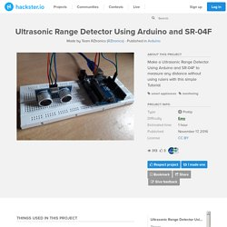 Ultrasonic Range Detector Using Arduino and SR-04F