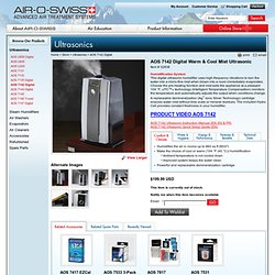 AOS Ultrasonic Humidifiers by AIR-O-SWISS, a PLASTON Brand