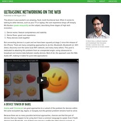 Ultrasonic Networking on the Web