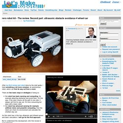rero robot kit - The review. Second part: ultrasonic obstacle avoidance 4 wheel car